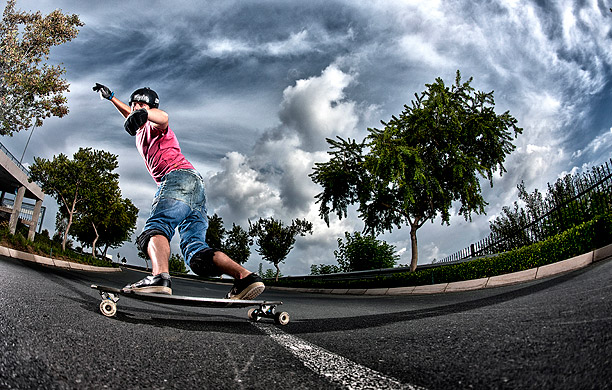 Erich-Scherrer South African longboarding action photo by ben bergh photography