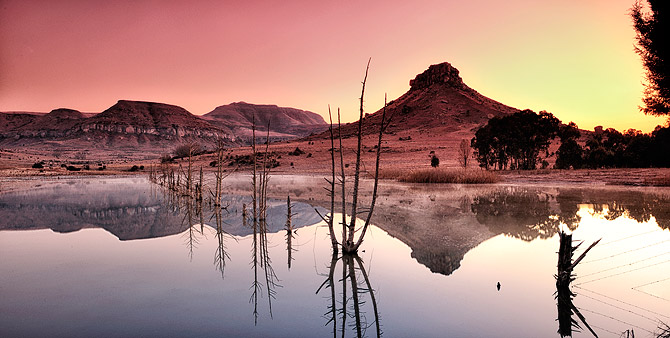 free state farm dam south african landscape photo by ben bergh photography