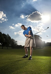 corporate photographer, portrait of a business executive playing golf for a corporate golf day event in sandton, northern suburbs, bryanston, johannesburg, fourways by ben bergh of ben bergh photography